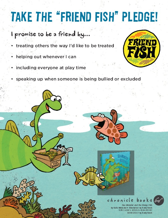 Sea Monster and The Bossy Fish_Fish Friends Pledge