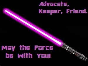 Purple Light Saber Award