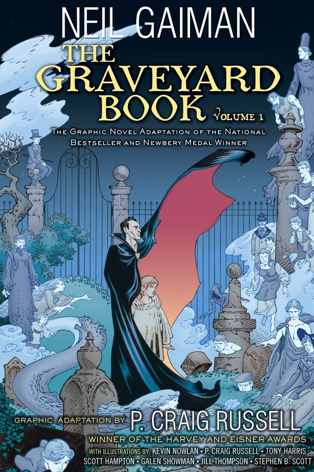 Graphic Novel Book Cover : Review the graveyard book graphic novel vol by neil